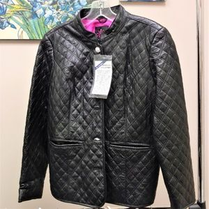 NEW-Isaac-Mizrahi-Live-Quilted-Lamb-Leather-Jacke